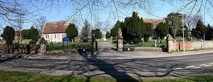 Blandford Forum Cemetery from Salisbury Road