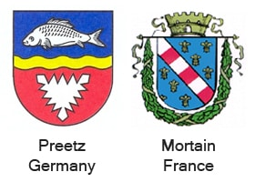 Blandford's twinned towns Preetz in Germany and Mortain in France