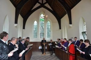 Rededication Service in the Cemetery Chapel