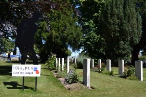 Silent Soldier and Commonwealth War Graves at Blandford Cemetery