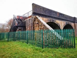 View of the Railway Arches from the bottom showing the staircase