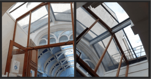 Lobby glazing