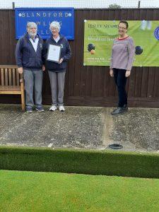 Sid & Joy Steele receiving their Certificate of Appreciation
